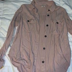 Mudd Mauve button up shirt